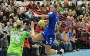 Xenia Smits war mit neun Toren beste Schützin der Partie gegen Göppingen. Foto: brink-medien