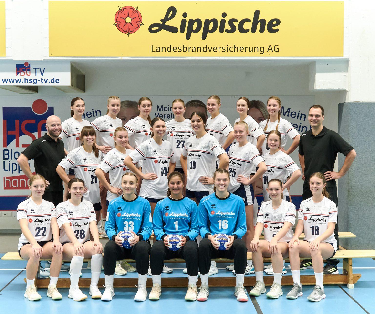 Sie spielen um die Deutshe Meisterschaft: die HSG-B-Mädels, Foto: Matthias Wieking